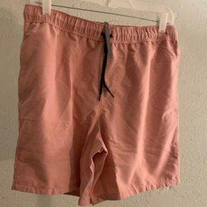 ASOS Design Men Pink Mid Length Swim Shorts M NWT